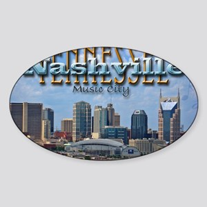 nashvillepostcardCROP Sticker (Oval)