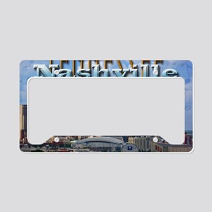 nashvillepostcardCROP License Plate Holder