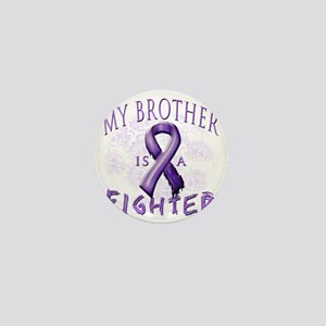 My Brother Is A Fighter Purple Mini Button