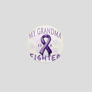 My Grandma Is A Fighter Purple Mini Button