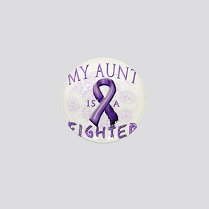 My Aunt Is A Fighter Purple Mini Button