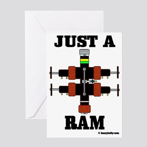 Just A Ram CC 1 A4 ad Greeting Card