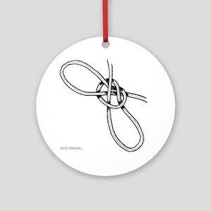 FN_TshirtKnot Round Ornament