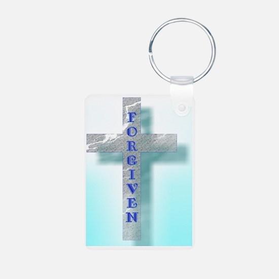 Forgiven Cross - Blue Keychains
