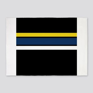 Team Colors 2...Yellow blue. and wh 5'x7'Area Rug