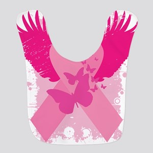 Pink Ribbon Abstract Design Bib