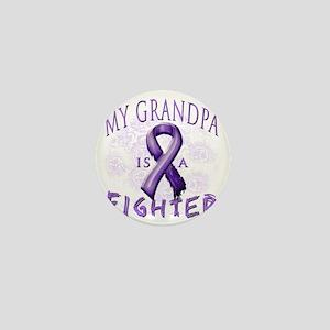 My Grandpa Is A Fighter Purple Mini Button