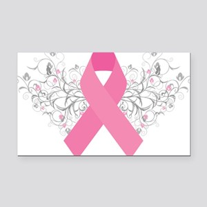 Pink Ribbon Abstract Design Rectangle Car Magnet