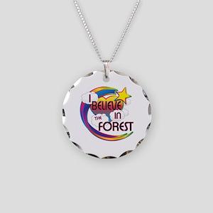 I Believe In The Forest Cute Believer Design Neckl
