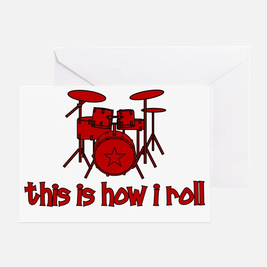 drums_thisishowiroll Greeting Card