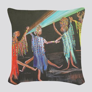 10x10_apparel_sistahs Woven Throw Pillow
