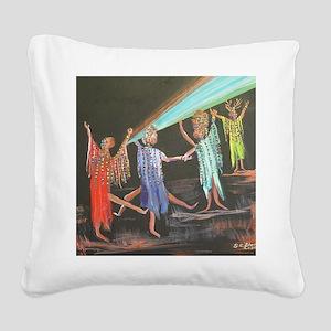 10x10_apparel_sistahs Square Canvas Pillow