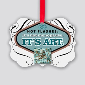 hot flashesBlu Picture Ornament