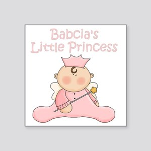 "Babcias little princess Square Sticker 3"" x 3"""