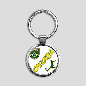 brasil(blk) Round Keychain