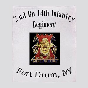 2nd bn 14th Inf Throw Blanket