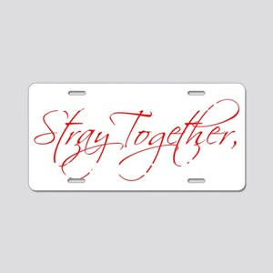 stray2 Aluminum License Plate