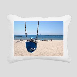 swing_beach Rectangular Canvas Pillow