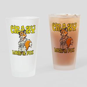 crazy_like_a_fox Drinking Glass