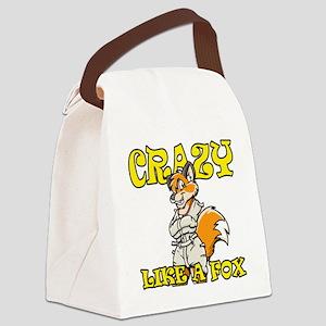 crazy_like_a_fox Canvas Lunch Bag