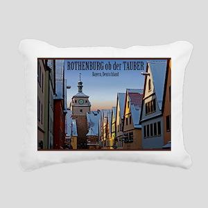 Rothenburg od Tauber - W Rectangular Canvas Pillow