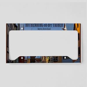 Rothenburg od Tauber - Weisse License Plate Holder