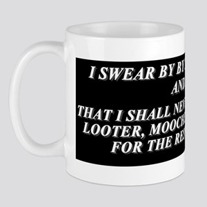 I Swear #1 - Black Bump Mug