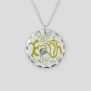 happy_Earth_Dark Necklace Circle Charm