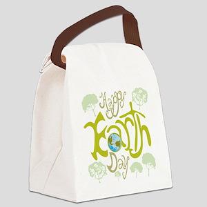 happy_Earth_Dark Canvas Lunch Bag