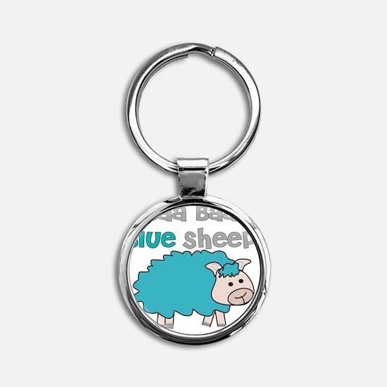 baa baa blue sheep Round Keychain
