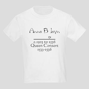 Anne Boleyn Black Kids T-Shirt