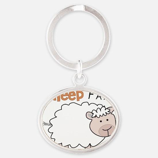 Sheep Fart Oval Keychain