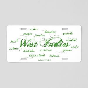 westindies_+_islands3 Aluminum License Plate