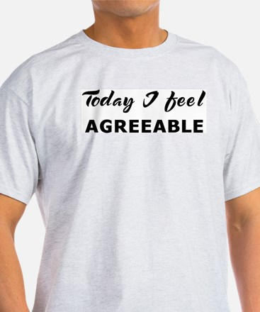 Today I feel agreeable Ash Grey T-Shirt