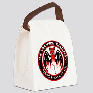 Round Logo Canvas Lunch Bag