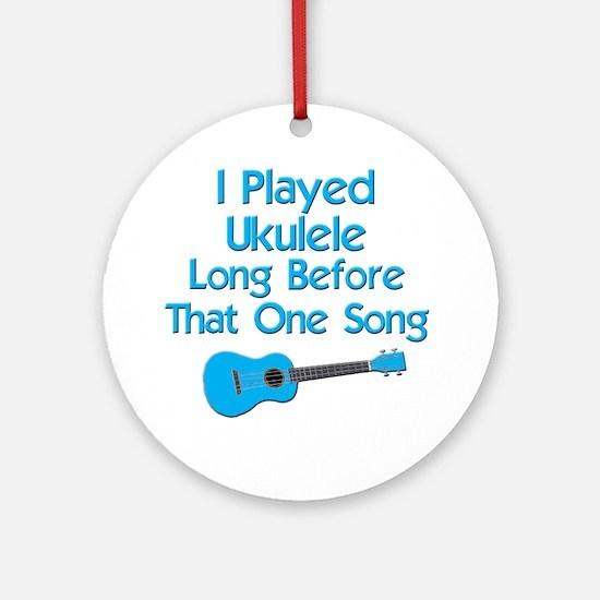 funny ukulele uke ukelele Round Ornament