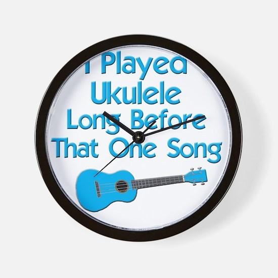 funny ukulele uke ukelele Wall Clock
