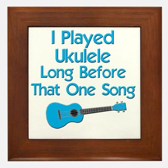 funny ukulele uke ukelele Framed Tile