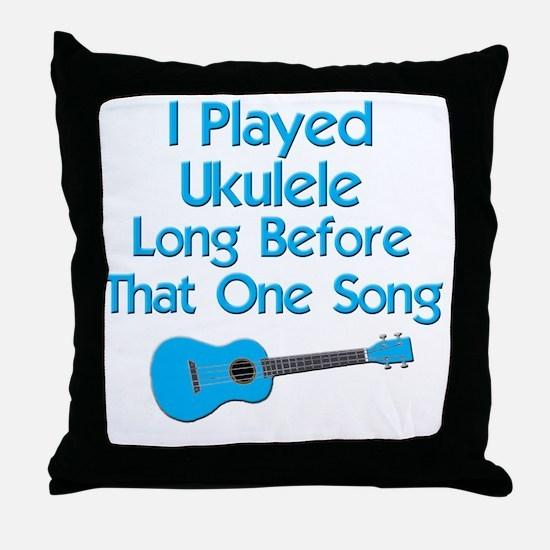 funny ukulele uke ukelele Throw Pillow