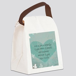 12x9 butterfly panel print Canvas Lunch Bag