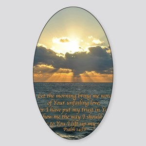 psalm143v Sticker (Oval)