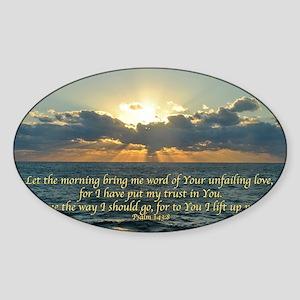 psalm143 Sticker (Oval)