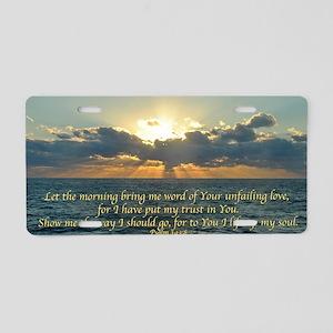 psalm143 Aluminum License Plate