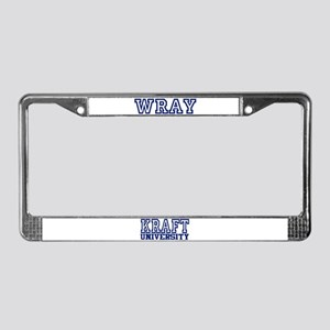 WRAY University License Plate Frame
