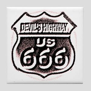 Devils HWY CafePress PNG Tile Coaster