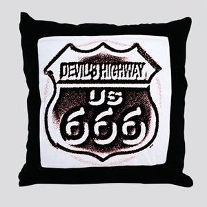 Devils HWY CafePress  Throw Pillow