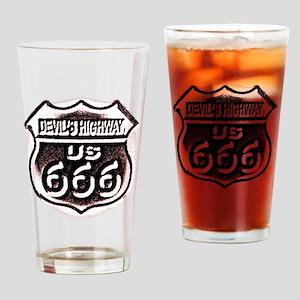 Devils HWY CafePress  Drinking Glass