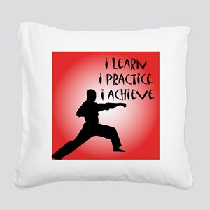 cp_karate3 Square Canvas Pillow