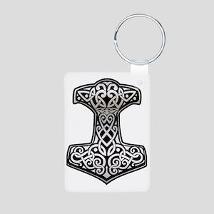 Thor__s_Hammer_chrome Aluminum Photo Keychain
