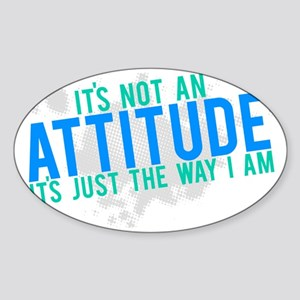 attitude2 Sticker (Oval)